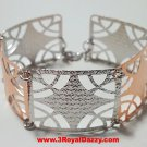 14k Rose & White Gold Layer on Silver Bracelet (3RoyalDazzy.com's Handmade # 2)