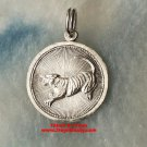 Chinese Lunar Zodiac Horoscope .925 Round Year of Tiger Pendant charm Small
