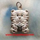 Unique Charming Zodiac Horoscope Baby Tiger .925 Sterling Silver Pendant