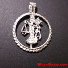 Astrology Zodiac Libra Horoscope Birthday Anti Tarnish 925 Silver Charm Pendant