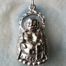 Classic Appealing Smiling Buddha .925 Sterling Silver Fashion Pendant