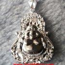 Inspiring Majestic 3D Sparkling Buddha .999 Solid Silver Medium Size Pendant