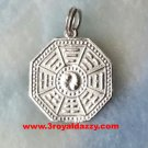 Chinese Ying Yang And Feng Shui Medallion Pendant .925 Sterling Silver Pendant
