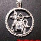 Astrology Zodiac Sagittarius Horoscope Birthday Anti Tarnish .925 Silver Pendant