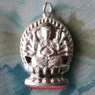 Superior Chinese GuanYin Goddess Buddha .999 fine Silver Hollow Pendant