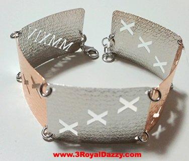 14k Rose & White Gold Layer on Silver Bracelet (3RoyalDazzy.com's Handmade # 3)