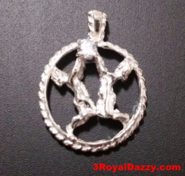 Astrology Zodiac Gemini Horoscope Birthday Anti Tarnish 925 Silver Charm Pendant