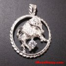 Astrology Zodiac Taurus Horoscope Birthday Anti Tarnish 925 Silver Charm Pendant