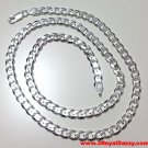 Men Women Children Sterling Silver Italian Cuban Curb Thicker Necklace 5.5mm 20""