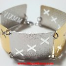 14k Y & W Gold Layer on 925 Silver Bracelet- 3RoyalDazzy.com Handmade Exclusive6