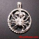 Astrology Zodiac Cancer Horoscope Birthday Anti Tarnish 925 Silver Charm Pendant