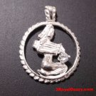 Astrology Zodiac Aquarius Horoscope Birthday Anti Tarnish .925 Silver Pendant