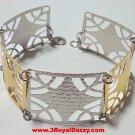 14k Y & W Gold Layer on 925 Silver Bracelet- 3RoyalDazzy.com Handmade Exclusive5