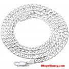 Precious Italian Sterling Silver Anti-Tarnish Curb link Chain 5 MM 24 ""