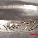 Handmade Leaves Pattern Design 999 Solid Fine Silver Adjustable Bangle