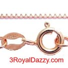 "1 mm box chain -18 ""- Italian 14k Rose gold layered over .925 sterling silver"