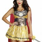 New Sexy Golden Gladiator Adult Costume - Greek and Roman Costume Size- Medium