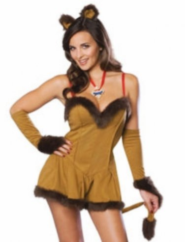 New Halloween Cowardly Lion Lioness Wizard of Oz Sexy Adult Costume Size- Small