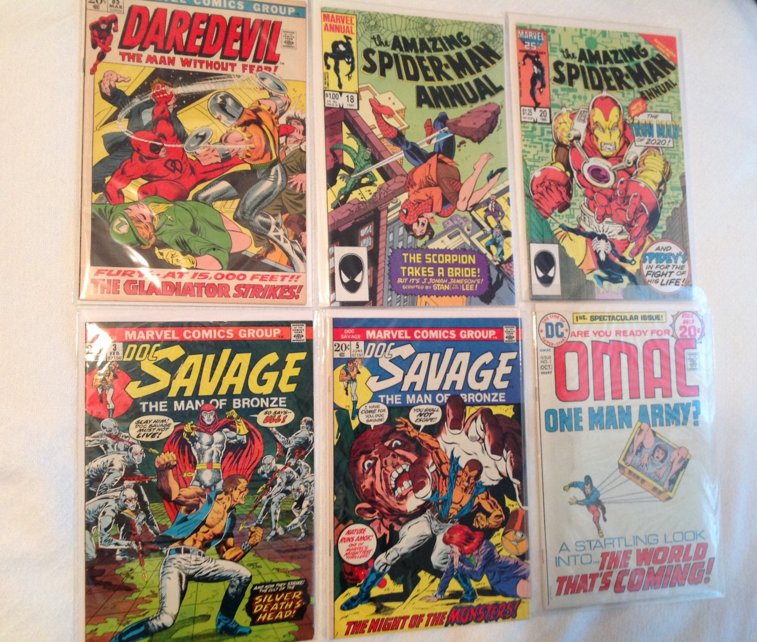 Mixed lot Comic Books Marvel and DC (6 books)