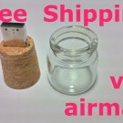 16gb usb flash drive memory stick Jar with cork stopper