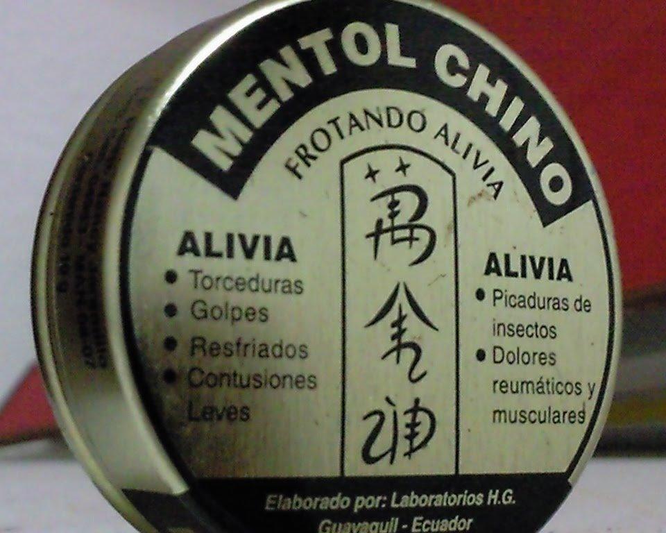 Mentol Chino Concentrado Alivia Torceduras Dolores y Otros