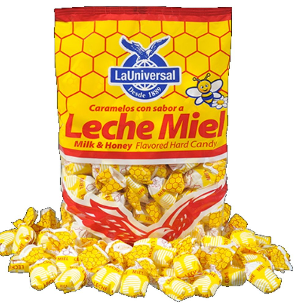 Leche Miel Milk and Honey Hard Candy 95count per bag