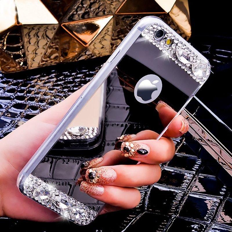 Luxury-Gold-Mirror-Case-For-iPhone-7-Plus-Glitter-Diamond-Acrylic-Soft-Slim