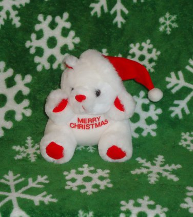 Teddy Bear with Santa Claus Hat for Christmas Holiday