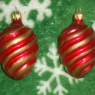 2 Vintage Ornament Bulbs for Chistmas Tree Holiday