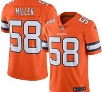 Denver Broncos Orange Color Rush Jersey