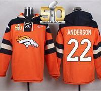 Denver Broncos C.J. Anderson #22 hoodie Jersey