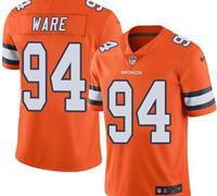 Denver Broncos Orange Men's Stitched NFL Limited Rush Jersey
