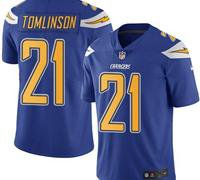 San Diego Chargers Electric Blue Men's Stitched NFL Limited Rush Jersey