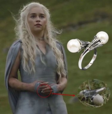 Game of Thrones of 7 season, Daenerys Targaryen Ring Pendant, Dragons Necklace