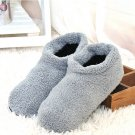 Indoor Plush Grey Velvet Slippers