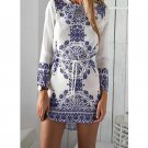 Summer Air Blue white Floral Paisley Dress Kate Middleton Style