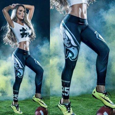 Woman Yoga Pants Sport Leggings Philadelphia Eagles Sports Tights Fiber Sport
