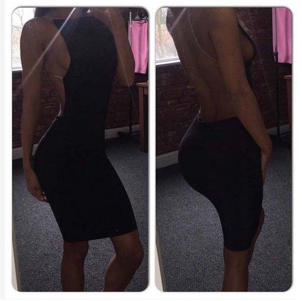 Kim Kardashian black sexy dress