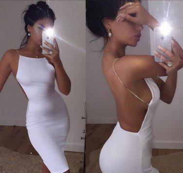 Kim Kardashian white sexy dress M size