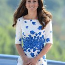 Kate Middleton Snorkel Blue Floral Paisley Lasa Dress XL size