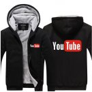 2017 Youtube Funny Logo Printed Hoodies Men Jacket Luxury Black Style
