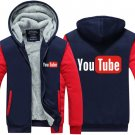 2017 Youtube Funny Logo Printed Hoodies Men Jacket Luxury Red Blue Style