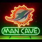 "Brand New Nfl Miami Dolfins Man Cave Beer Bar Pub Neon Light Sign 13""x 8"" [High Quality]"