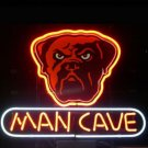 "Brand New Nfl Cleveland Browns Dog Man Cave Beer Bar Pub Neon Light Sign 13""x 8"" [High Quality]"