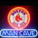 "Brand New MLB Boston Red Sox Dog Man Cave Beer Bar Pub Neon Light Sign 13""x 8"" [High Quality]"