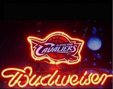 "Brand New NBA Cleveland Cavaliers Budweiser Beer Bar Pub Neon Light Sign 13""x 8"" [High Quality]"