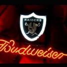 "Brand New NFL Oakland Raiders Budweiser Beer Bar Pub Neon Light Sign 13""x 8"" [High Quality]"