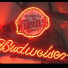 "Brand New MLB Minnesota Twins Budweiser Beer Bar Pub Neon Light Sign 13""x 8"" [High Quality]"