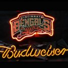 "Brand New NFL Cincinnati Bengals Budweiser Beer Bar Pub Neon Light Sign 13""x 8"" [High Quality]"