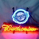 "Brand New MLB Kansas City Royals Budweiser Beer Bar Pub Neon Light Sign 13""x 8"" [High Quality]"